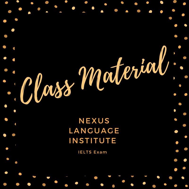 IELTS Class Material